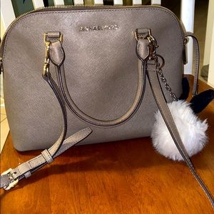 Michael Kors taupe and gold crossbody